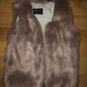 Mini street kids fur vest